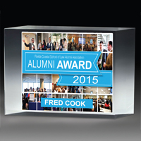 "2307-1S (Screen Print), 2307-1L (Laser), 2307-1P (4Color Process) - 1 1/4"" Thick Freestanding Acrylic Awards"